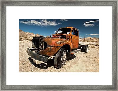 Broken Truck Framed Print by Christian Hallweger