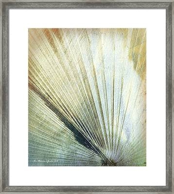 Bronze Blue Palm Frond Lh Framed Print by Marvin Spates