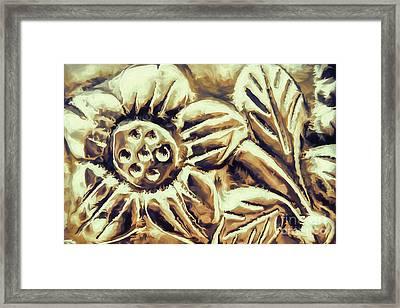 Bronze Flower Framed Print by Jean OKeeffe Macro Abundance Art