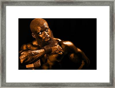 Bronze Man Framed Print by Val Black Russian Tourchin