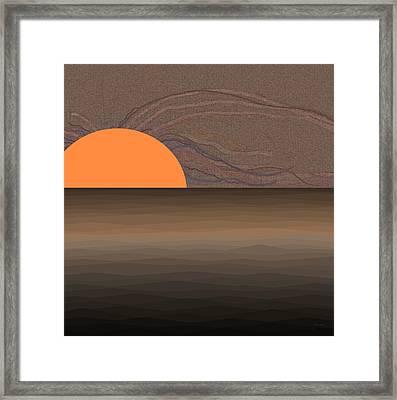 Bronze Sunrise Framed Print by Val Arie