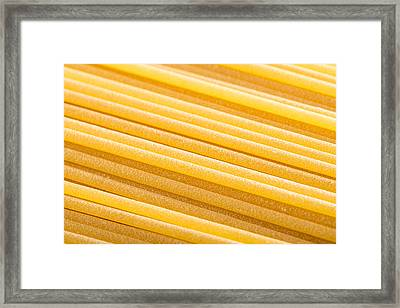 Bronze Wire-drawing Italian Spaghetti  Framed Print by Alain De Maximy