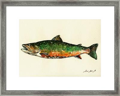 Brook Trout Framed Print by Juan  Bosco