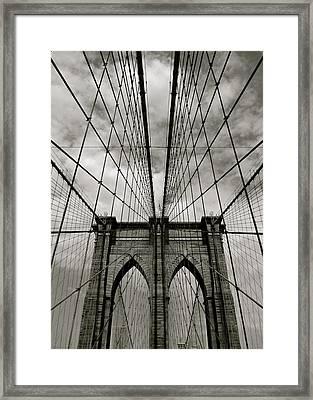 Brooklyn Bridge Framed Print by Adrian Hopkins