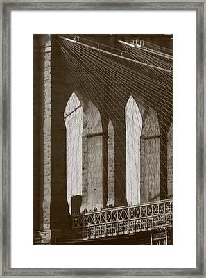 Brooklyn Bridge Afternoon Framed Print by Christopher Kirby