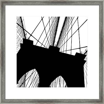 Brooklyn Bridge Architectural View Framed Print by Az Jackson