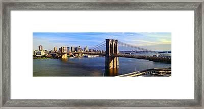 Brooklyn Bridge, Brooklyn View, New York Framed Print by Panoramic Images