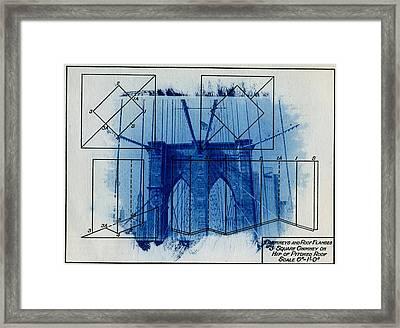 Brooklyn Bridge Framed Print by Jane Linders