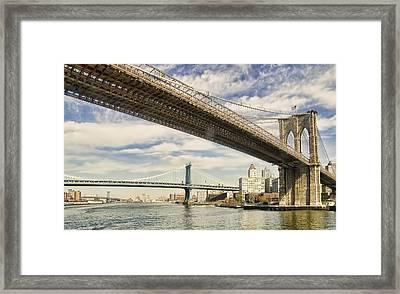 Brooklyn Bridge Framed Print by John Amelia