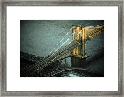 Brooklyn Bridge Framed Print by Kellice Swaggerty
