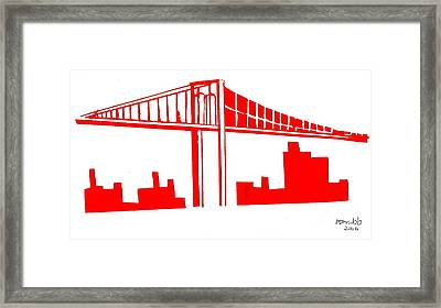 Brooklyn Bridge Framed Print by Mike Grubb