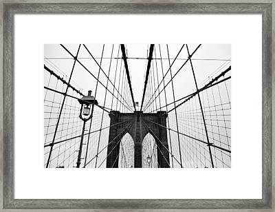 Brooklyn Bridge Framed Print by Thank you for choosing my work.