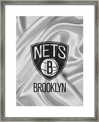 Brooklyn Nets Framed Print by Afterdarkness
