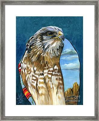 Brother Hawk Framed Print by J W Baker
