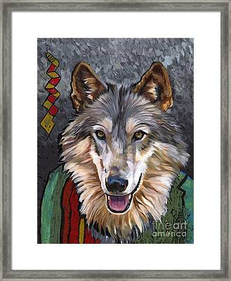 Brother Wolf Framed Print by J W Baker