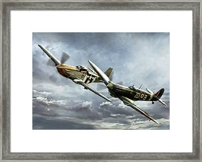 Brothers In Arms 2 Framed Print by Peter Chilelli