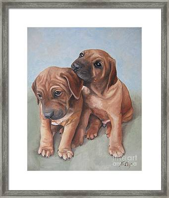 Brothers Framed Print by Jindra Noewi