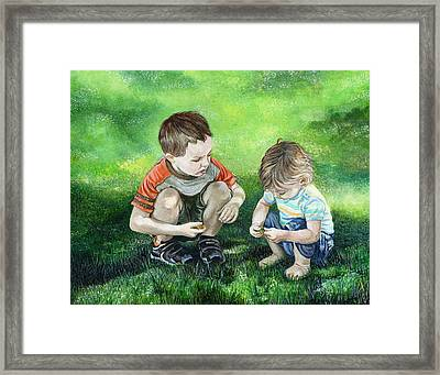 Brothers Framed Print by Michelle Sheppard