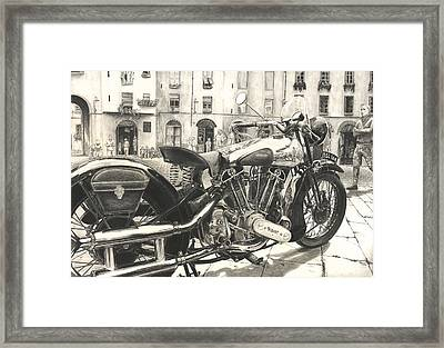 Brough Superior Ss 100 Framed Print by Norman Bean