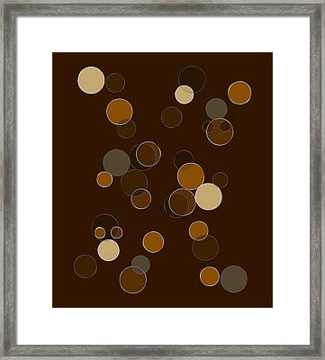 Brown Abstract Framed Print by Frank Tschakert