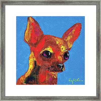 Brown Chihuahua Framed Print by Corey C McNabb