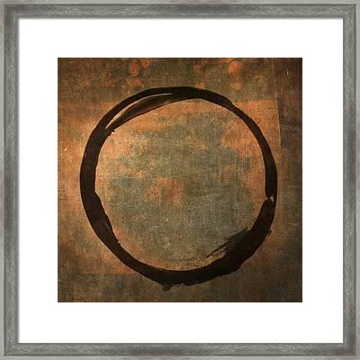 Brown Enso Framed Print by Julie Niemela
