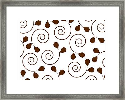 Brown Floral Framed Print by Frank Tschakert