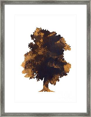 Brown Oak Minimalist Painting Framed Print by Joanna Szmerdt