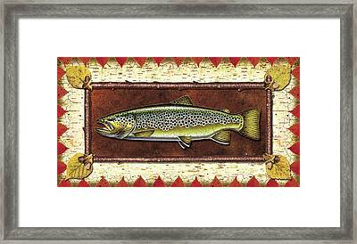 Brown Trout Lodge Framed Print by JQ Licensing