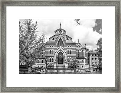 Brown University Robinson Hall Framed Print by University Icons
