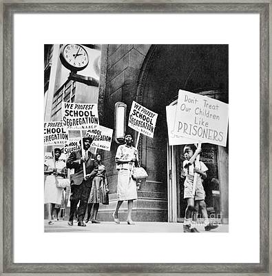 Brown Vs Board Of Education Framed Print by American School