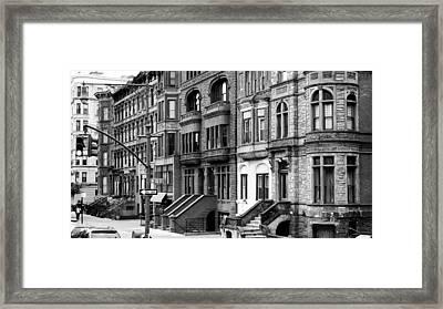 Brownstone Framed Print by Darren Martin