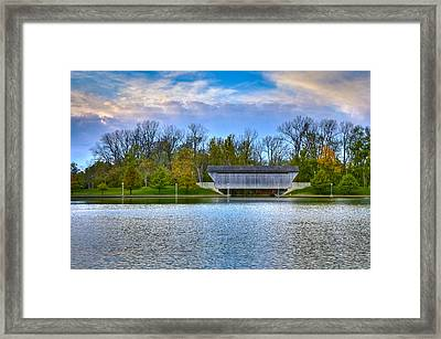 Brownsville Covered Bridge Framed Print by Jack R Perry