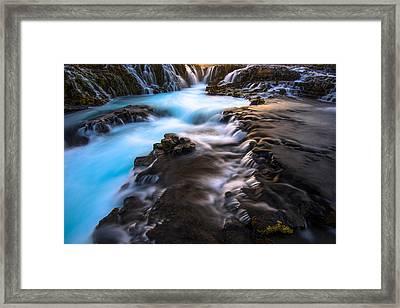 Bruarfoss Iceland Framed Print by Joseph Rossbach
