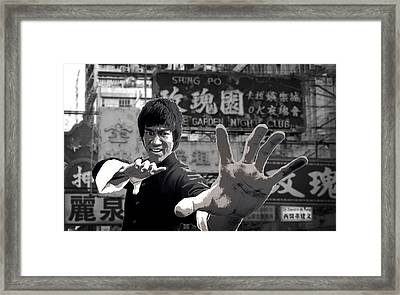 Bruce Lee Founder Of Jeet Kune Do Framed Print by Daniel Hagerman