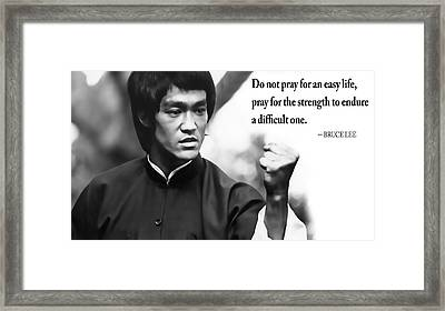 Bruce Lee On Enduring Life's Challenges Framed Print by Daniel Hagerman