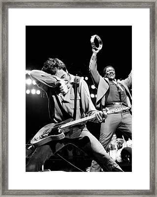 Bruce Springsteen 1981 Framed Print by Chris Walter