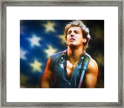 Bruce Springsteen Americana Framed Print by Dan Sproul