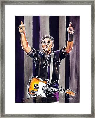 Bruce Springsteen Framed Print by Dave Olsen