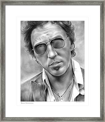 Bruce Springsteen Framed Print by Greg Joens