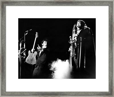 Bruce Springsteen - Halloween On E Street 1980 Framed Print by Chris Walter