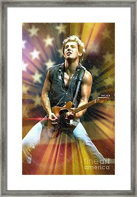 Bruce Springsteen  Framed Print by Pat Carafa