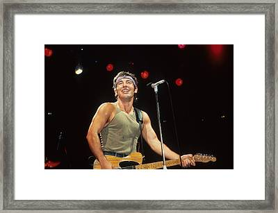 Bruce Springsteen Framed Print by Rich Fuscia