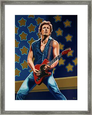 Bruce Springsteen The Boss Painting Framed Print by Paul Meijering