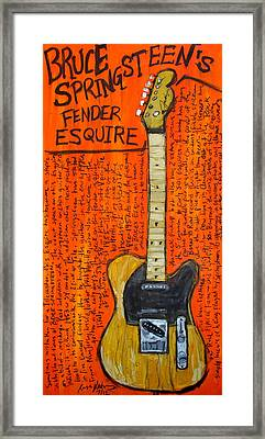Bruce Springsteen's Fender Esquire Framed Print by Karl Haglund