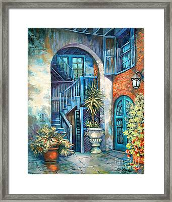 Brulatour Courtyard Framed Print by Dianne Parks