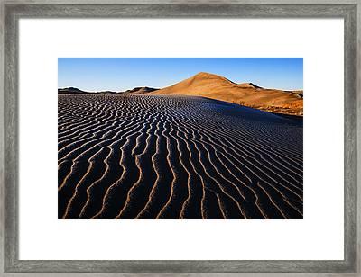 Bruneau Dunes State Park Idaho Usa Framed Print by Vishwanath Bhat