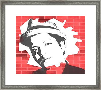 Bruno Mars Graffiti Tribute Framed Print by Dan Sproul