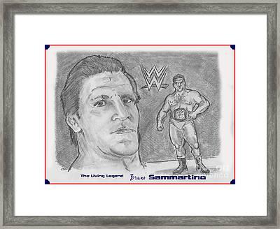 Bruno Sammartino The Living Legend Framed Print by Chris  DelVecchio