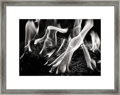 Brushfire 18 Framed Print by Sumit Mehndiratta